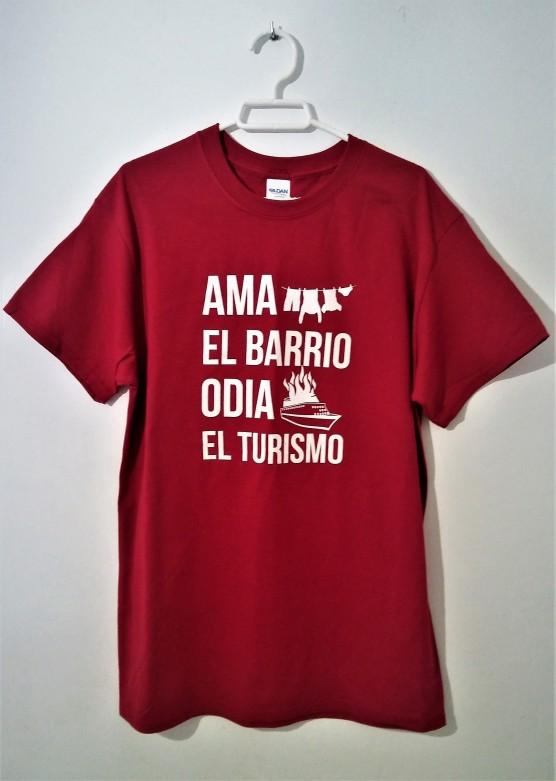 camiseta ama el barrio, odia el turismo